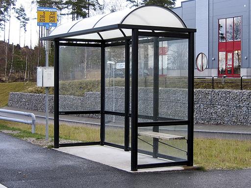 Arcus 3 busskur - 2 til 4 seksjoner, c/c 1090 mm.