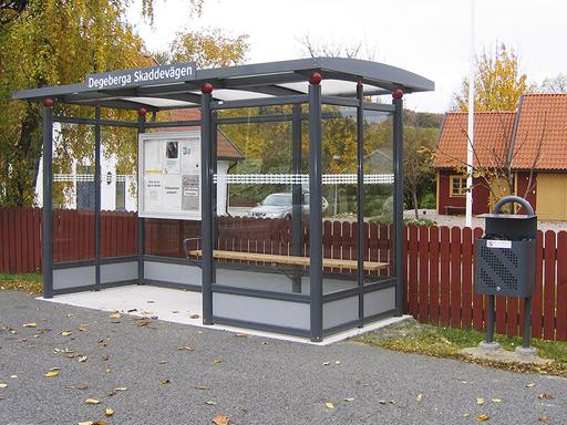 City busskur - 2 til 4 seksjoner, c/c 1200 mm.