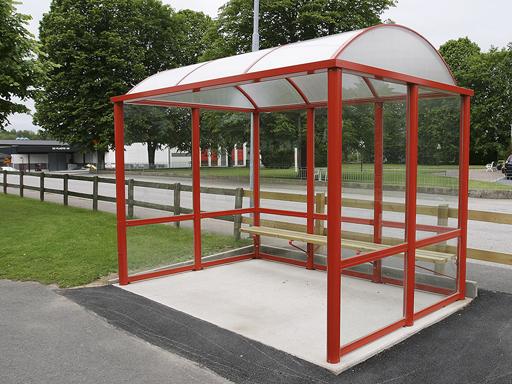 Flexi 3 busskur - 2 til 3 seksjoner, c/c 1090 mm.