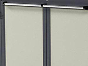 Zenzo Miljø-Modul beholderskjul med aluminiumsplate med glatt overflate- tillegg