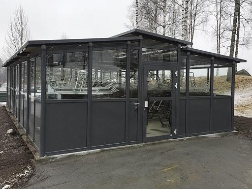 Funkis Trio 63-5 Sykkelhus - 68 m2 - 80 sykkelplasser