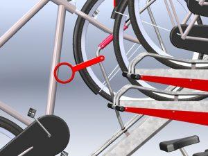 Zenzo Miljø - Sykkelprodukter - 2ParkUp sykkelstativ i to etasjer - tilvalg ekstra låsebøyle til øverste etasje