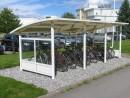 Sykkelparkering- Sykkelskur - Ymer glass - foran