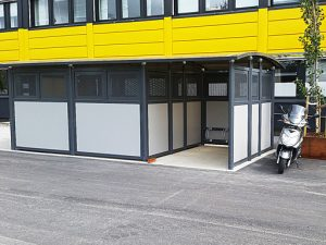 Zenzo Miljø - Tellus Avfallshus - Miljøhus - Tellus 30-2 -med sykkelparkering