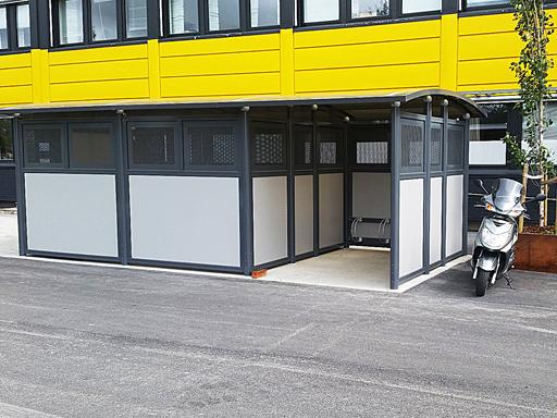 Tellus 30-2 Avfallshus - Miljøhus - med sykkelparkering