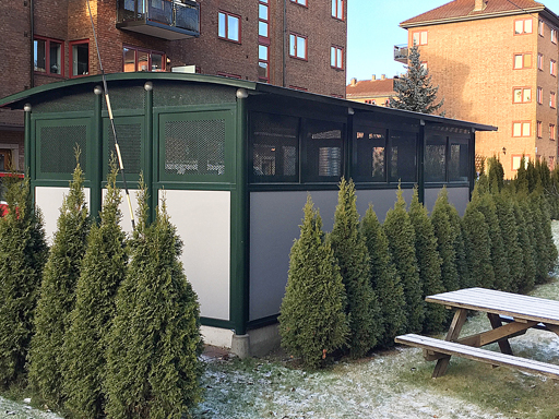 Tellus 30-3 - Borettslag i Oslo satt opp 7 forskjellige avfallshus