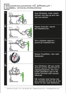 Brukerveiledning - 2ParkUp dobbel sykkelparkering