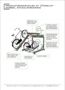 produktbeskrivelse- 2ParkUp dobbel sykkelparkering