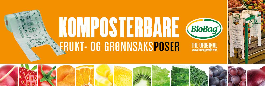 Komposterbare frukt- og grønnsaksposer