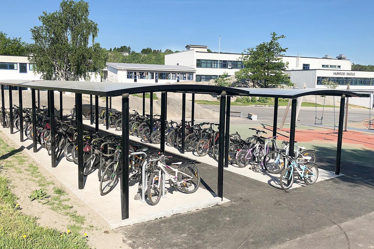 Zenzo - blogg - okt - Hurrød skole - Ymer sykkelskur