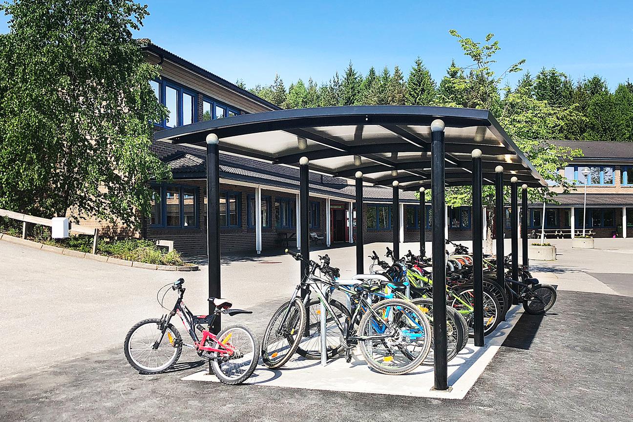 Zenzo - blogg - okt - Rekustad skole - Ymer sykkelskur