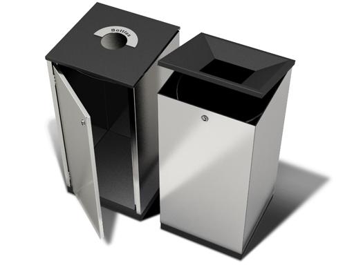 Edge-beholderne er et modulbasert system for avfallssortering.