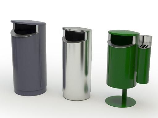 Novus beholdere til avfallssortering.