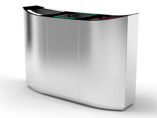 Wave beholderne kan leveres med eller uten buet deksel.