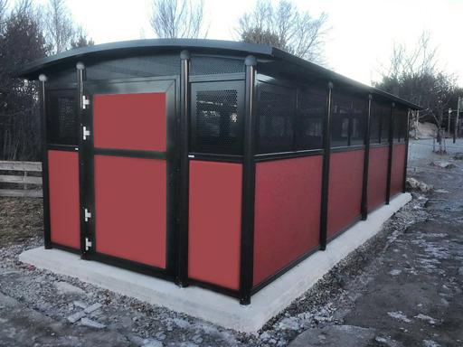 Tellus 30-4 - Med vegger i fargen RAL3013 - 26 kvm.