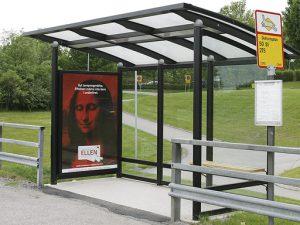 ZENZO MILJØ - leskur - tillvalg - reklameskilt