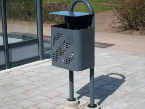 ZENZO MILJØ - leskur - tillvalg - avfallsbeholder -  søpplekasse